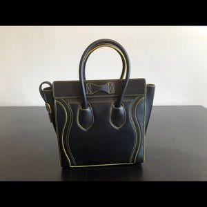 Celine Bags - Celine Luggage Micro Black Calfskin Tote BRAND NEW